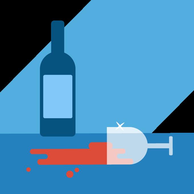 spilt red wine