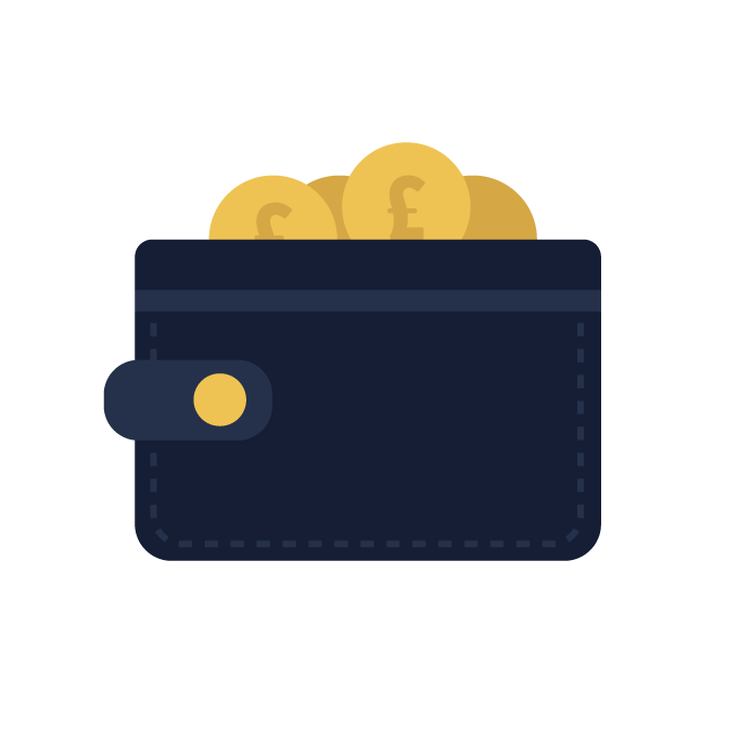wallet with coins inside