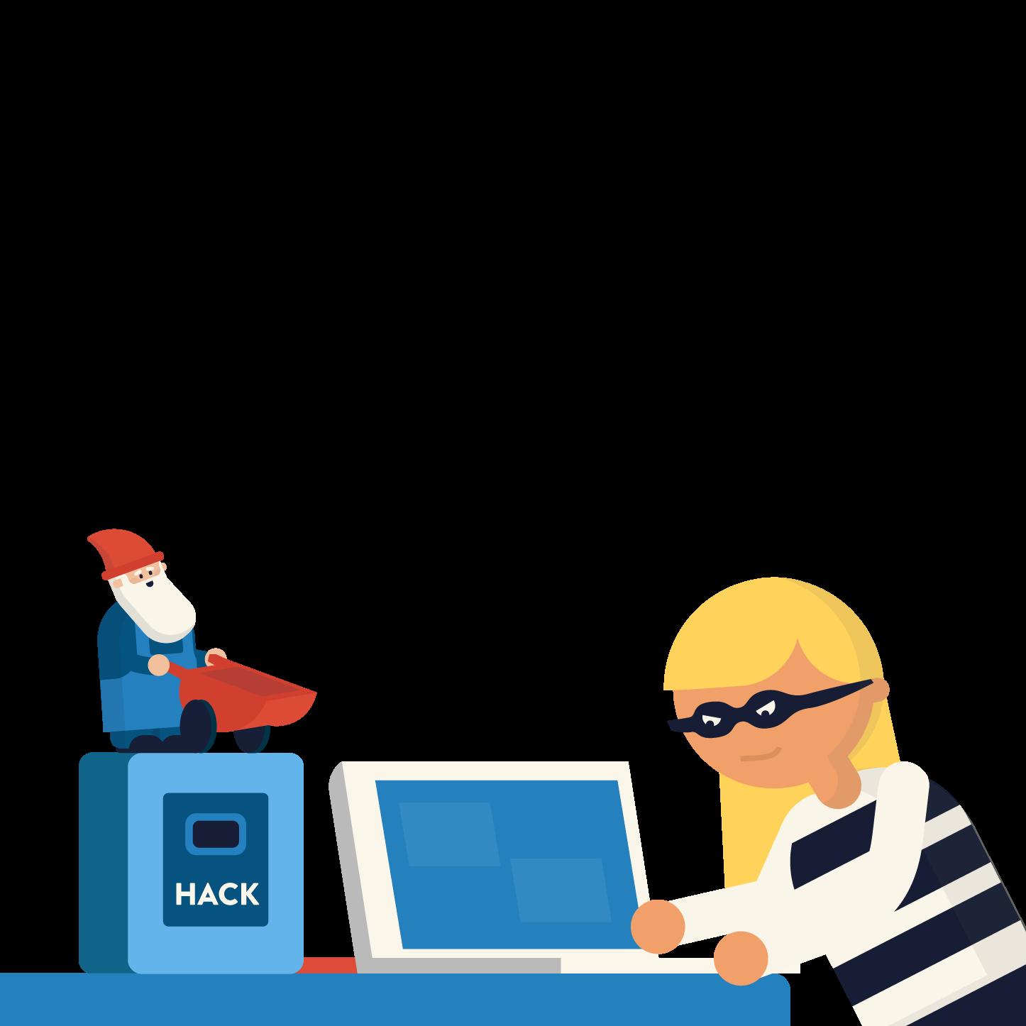 thief hacking into a shop computer