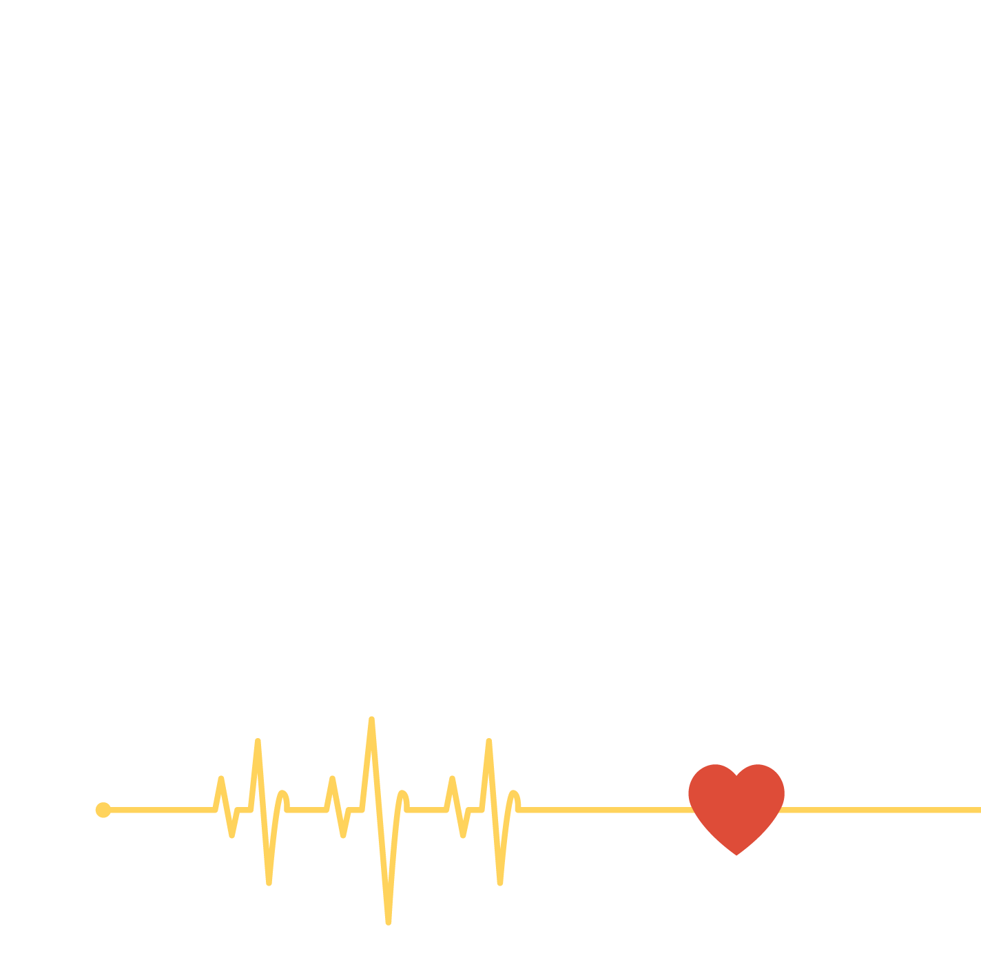 ECG lines from a heart